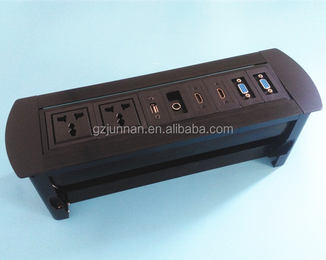 Universal plug desktop socket for table