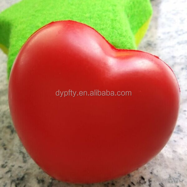 red heart shape anti-stress ball new promotional gift items 2015