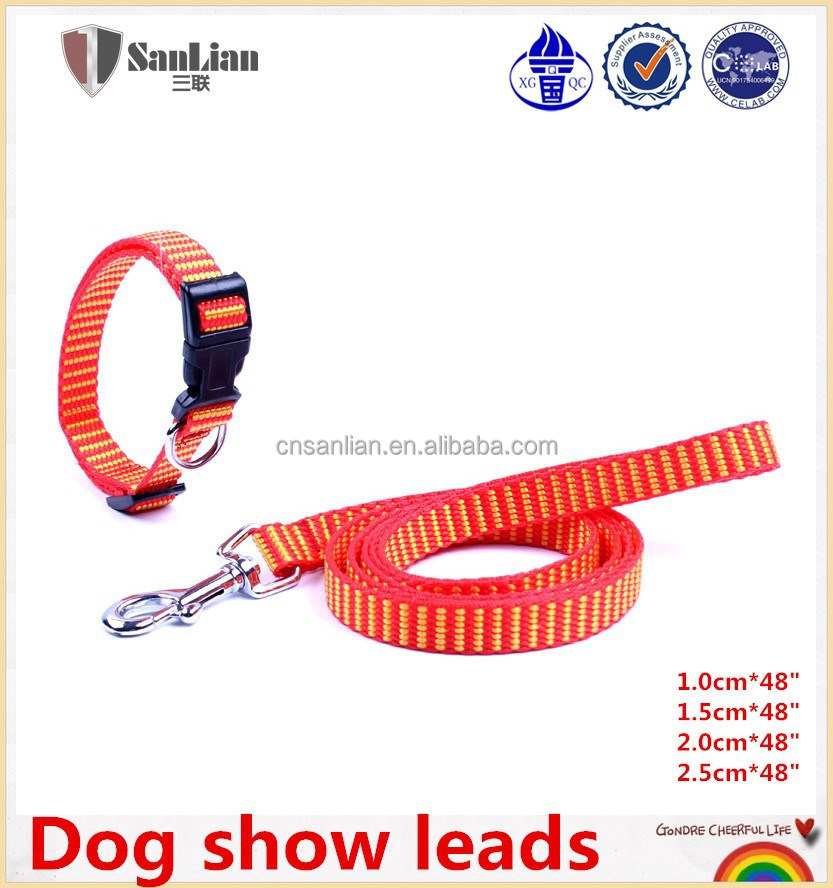 Firm dog show leads of polyester material