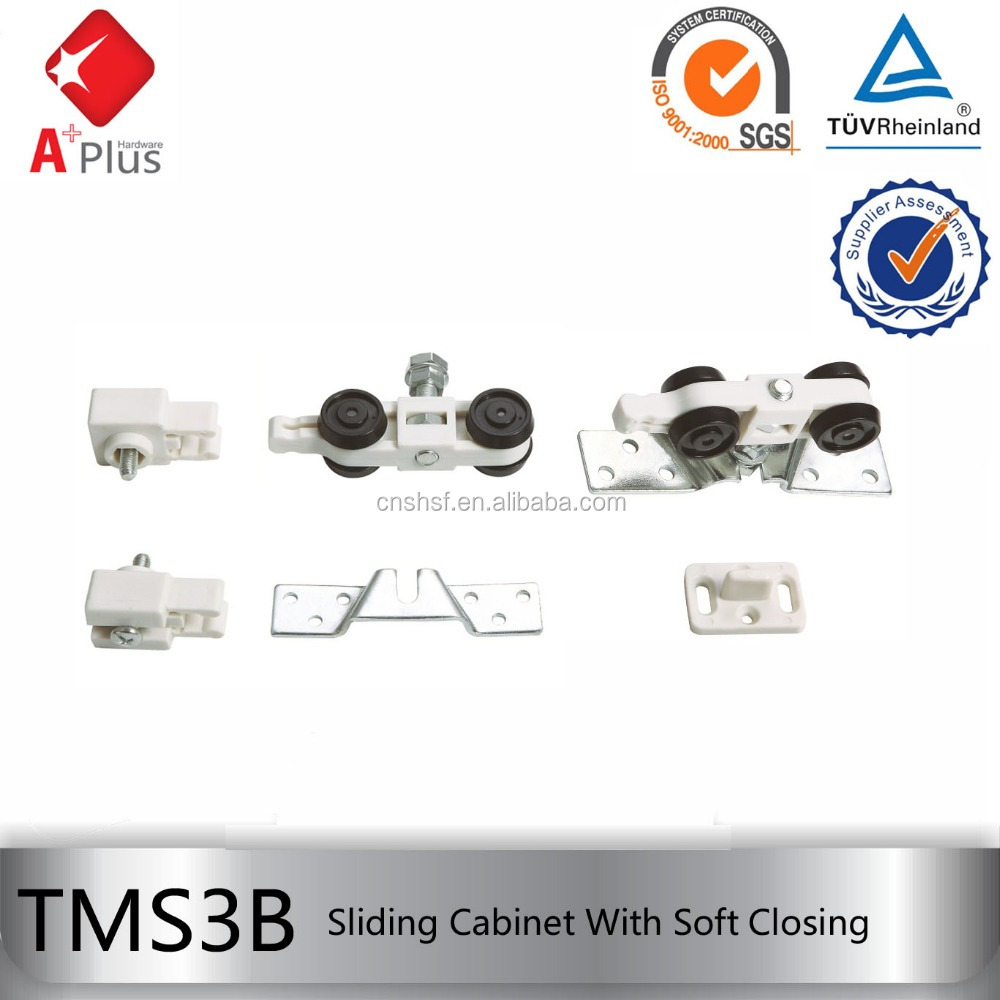 TMS3B load 50kgs hanging sliding wardrobe door wheels