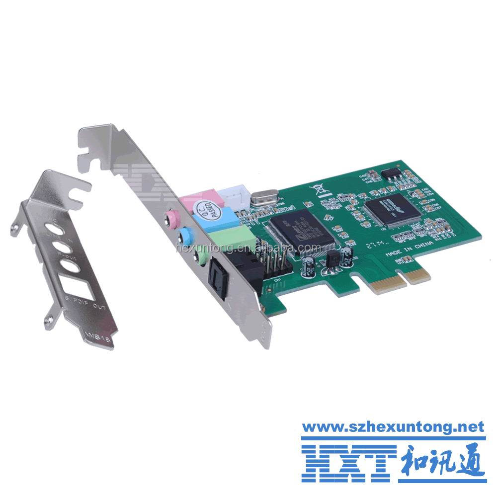PCI-E sound card 7.1 Audio Card Pci express 7.1 channel sound card 8 channel support windows7/8
