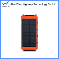 hook design mini waterproof mobile solar power charger for iphone ipad
