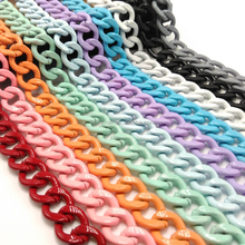 colored aluminum chain links for making necklace