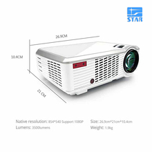 Wholesales Mobile rechargeable mini OEM projector with Android 4.4 Projectors 2000 lumens