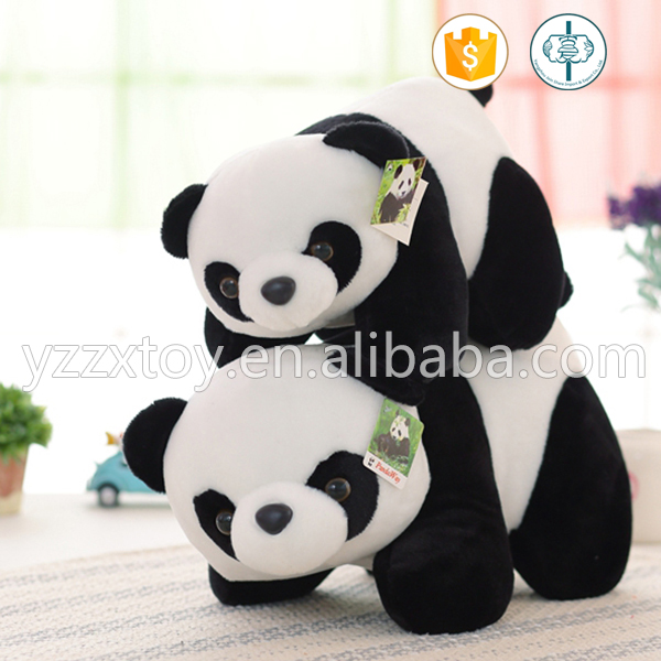 New design cute round stuffed panda toy