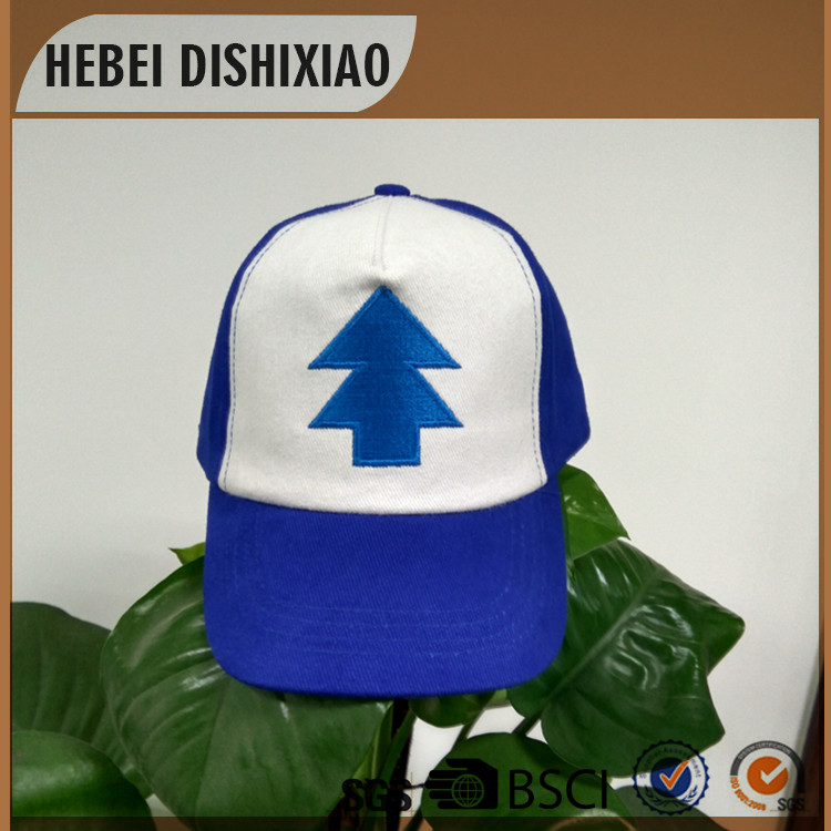 5panels two tones blue and white multicolor embroidery logo children hats and cap kids boys baseball cap
