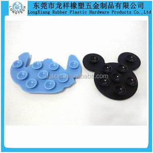 small size silicone anti-slip mat sticky suction pad