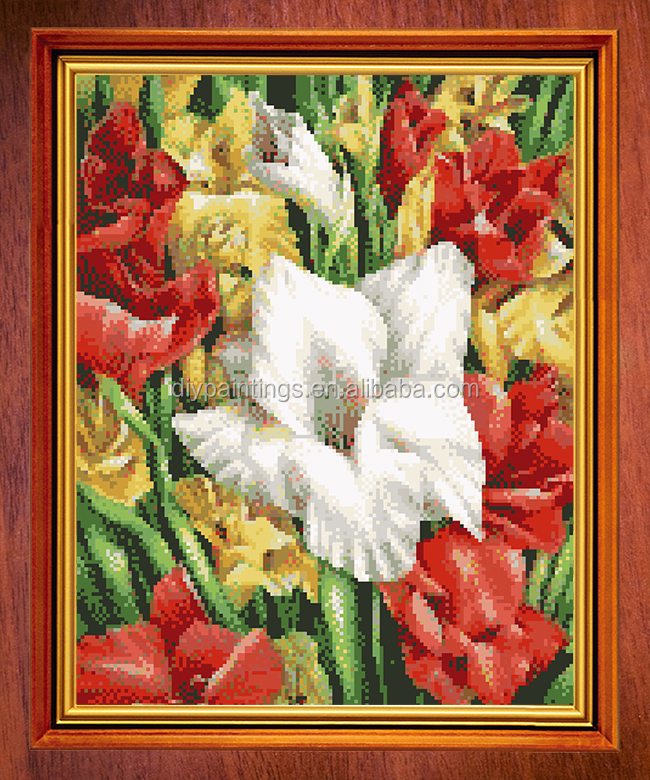 Russia diy embroidery diamond painting flower canvas for wall <strong>art</strong> and decoration diy diamond painting kit