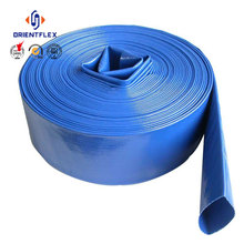 Double jacket rubber, pvc or PU lining strength and flexible fire fighting layflat hose