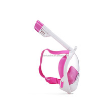 One piece snorkel mask swim gear with mesh bag anti-fog technology