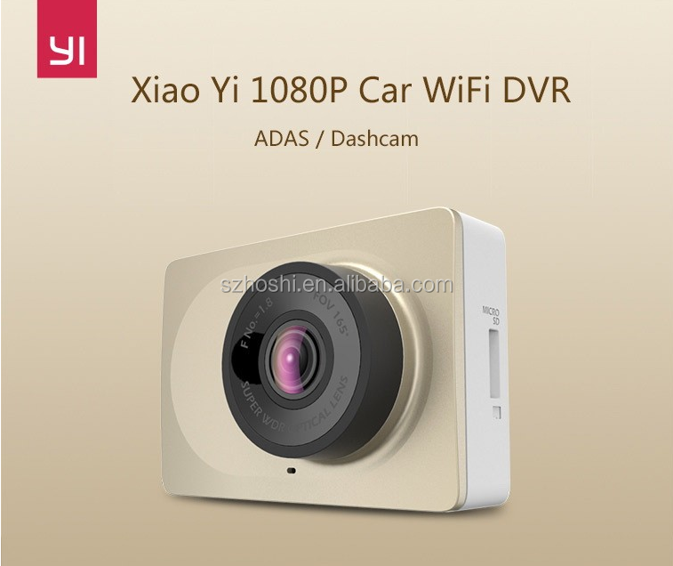 Original Xiaomi WiFi 165 Degree Yi Dash Camera 1080P 60fps 2.7 Inch 16:9 H.264 Camcorder Car Camera