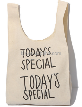 Factory Manufacture Cotton Canvas Shopping Bags with High Quality