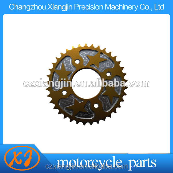 T6 7075 aluminum 420 motorcycle chain sprocket for 420/428 chain