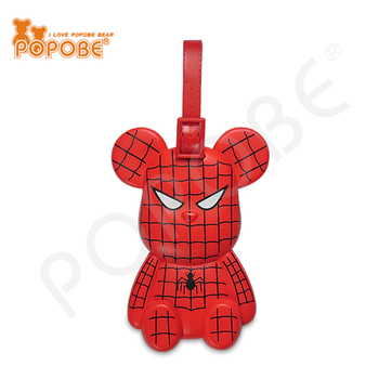 POPOBE Bear PVC Luggage Tag 5inch Action Figure Luggage Tag Spiderman Luggage Tag