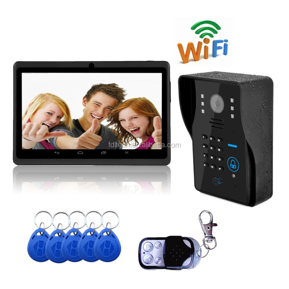 2016 smart home smartphone video unlock alarm system by android and ISO device WiFi Doorbell