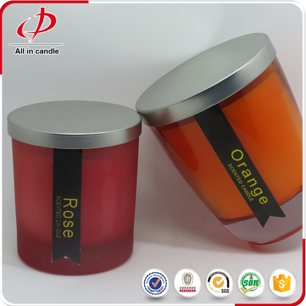 high quality scented tin holder glass jar candle