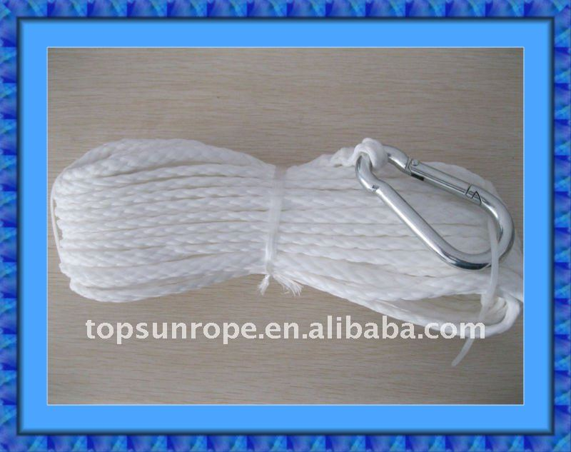 Braided rope for boat fittings mooring rope dock line