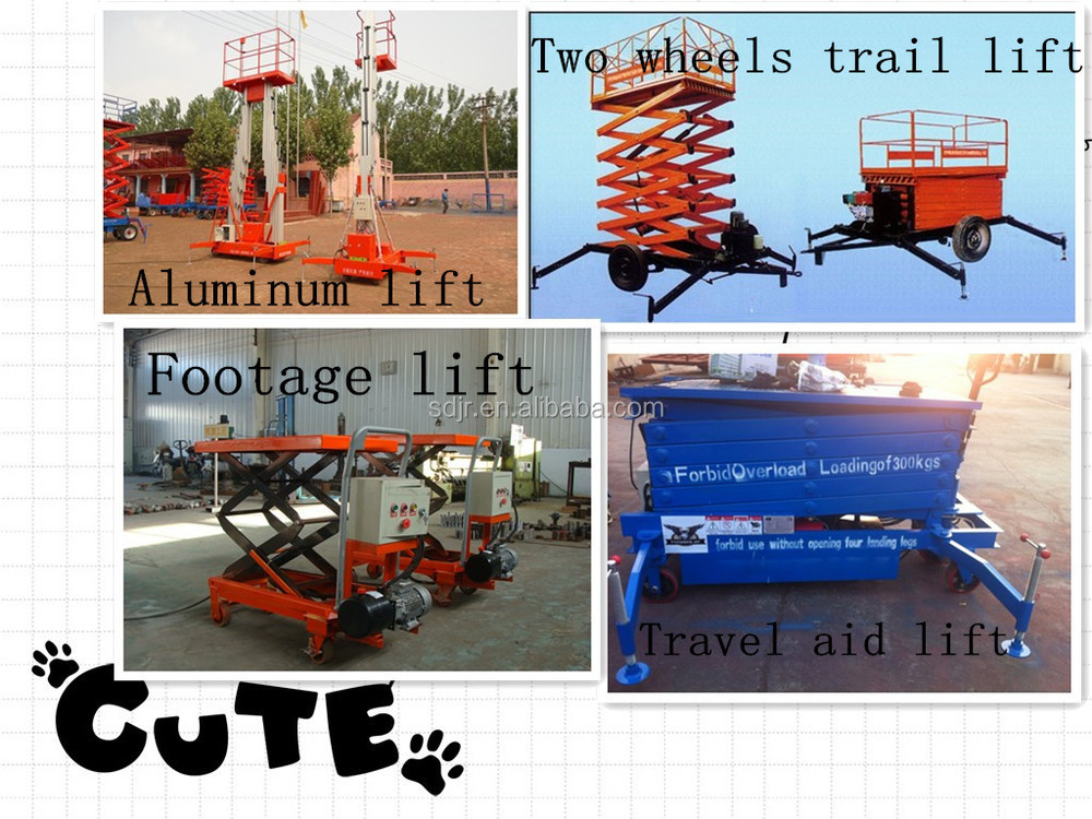 CE Diesel engine boom lift folding arm aerial work platform with CE