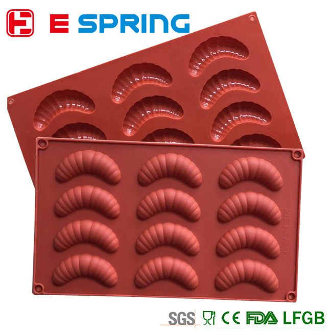 mini caterpillar shaped chocolate silicone mold cooking tools
