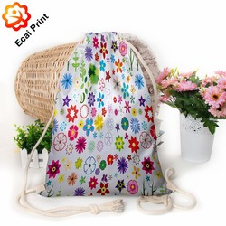 durable good looking heat transfer digital printing drawstring bag