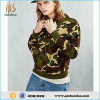 2016 guangzhou shandao autumn fashion design 100%polyester long sleeve pullover men wholesale camo hoodies