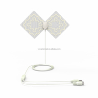 Indoor Digital DVB-T HDTV 28dBi TV Signal Antenna with F Male