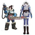 OW Dr. Mei Ling Zhou Cosplay Costume Suit Adult Women's Game Halloween Carnival Cosplay Costume