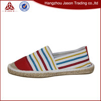 Wholesale high quality exotic skin shoes elastic women strap factory manufacture flat espadrille