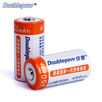 Full high capacity rechargeable 3V 450mAh CR123A 16340 rechargeable Li-ion battery