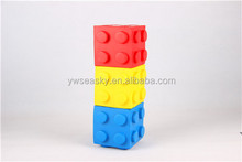 pu stress building block / customer's shaped / oem / odm / advertising promotional logo printed
