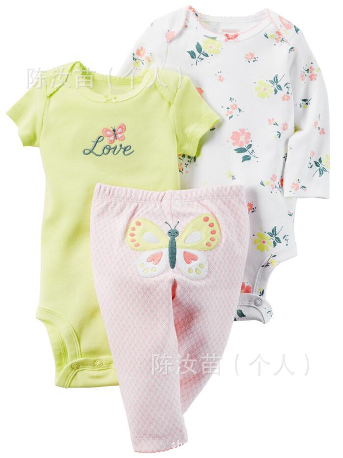 baby clothes 2017 spring baby 3pcs romper set baby wear clothes