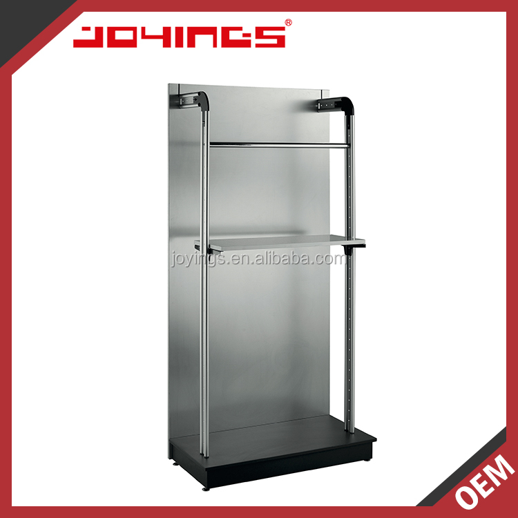Single Side Gondola Shelving Display with Aluminum Post