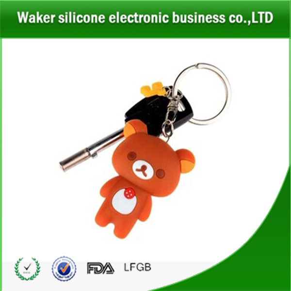 2017 Newest promotion gifts silicone car key chain
