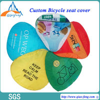 Promotional bespoke logo printed bike seat cover, lovely bicycle saddle cover