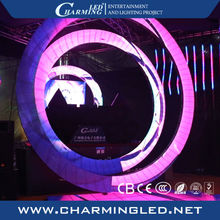 mobile round led display , wedding / club stage backdrop screen