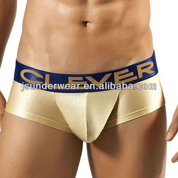 Satiny Fabric Mens Boxer Briefs,Sexy Underwear OEM Service in China