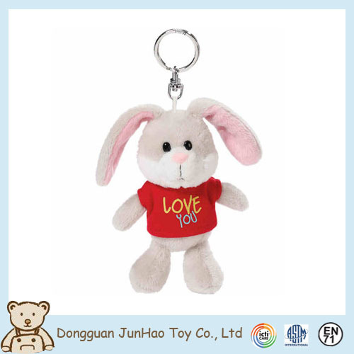 Excellent Quality Customized Plush Rabbit Fancy Animal Keychain with Cheap Price