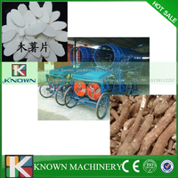 Electric full automatic cassava chips production line.cassava peeling slicing machine