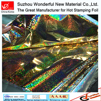 Laser sparkle design hot stamping foil for textile & fabric