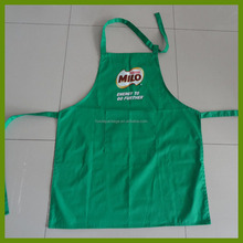 Green milo customized printed apron made of poly/cotton twill fabric with the 235gsm
