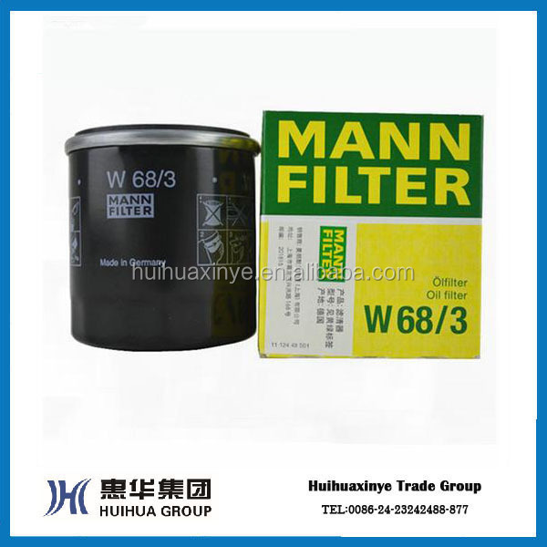 2015 High Quality MANN OEM auto/truck/car Oil Filter W68/3