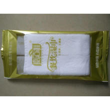 disposable single pack cotton wet wipe wet towel for restaurants and hotels