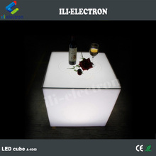 RGB rechargeable led lighting cube table