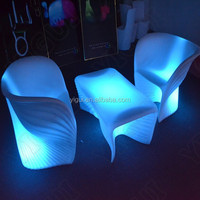 plastic battery lighted up led coffee/tea/cocktail table for nightclub/KTV