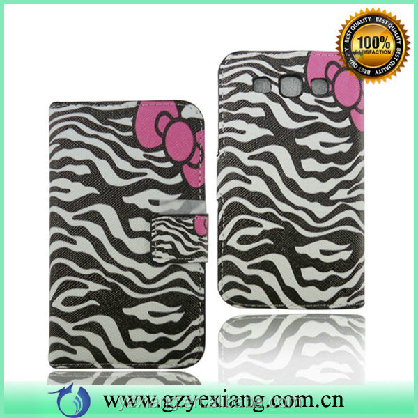 For Galaxy Vin Samsung I8552 Phone Wallet case, Flip Case For Samsung I8552