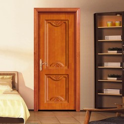 iso ce new model best quality with nature solid wood 100% single leaf wooden door china alibaba
