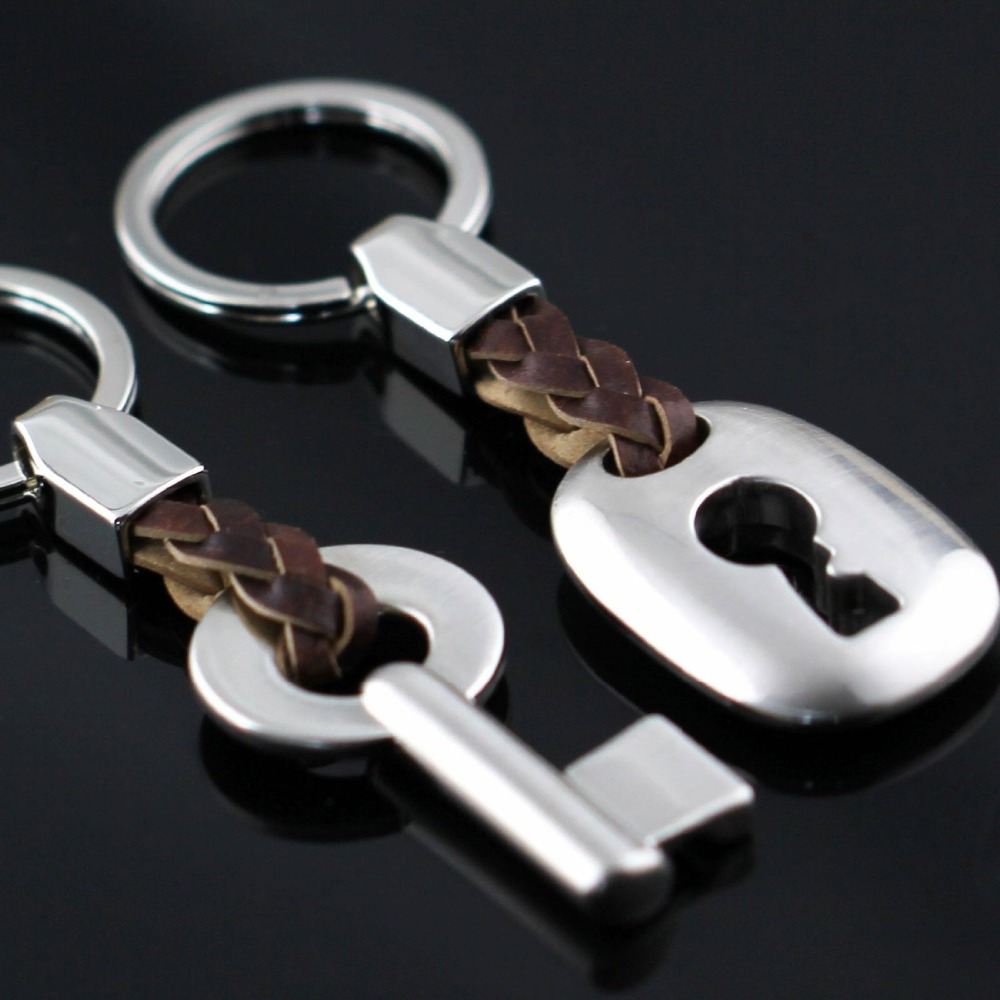 Creative Fashion Leather Couple Keychain Key Chain Ring Keyring Key Fob Key & Lock keychains