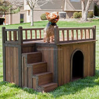 outdoor wooden dog show cage