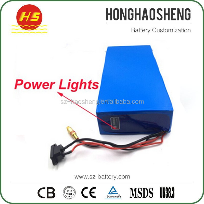 High power electric scooter battery 48v 20ah 30ah 40ah rechargeable 18650 battery pack