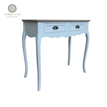 French Provincial Shabby Chic Wooden Carved Console Table Furniture For Living Room